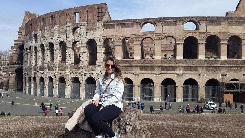 Coliseu em Roma, Itália (Foto: Camila Aparecida Oliveira)